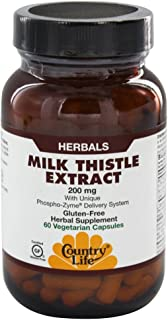 Country Life Milk Thistle Extract, 200 mg - 60 Vegan Capsules