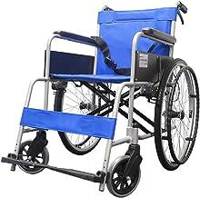Zhi BEI Wheelchair,Manual Wheelchair Aluminum Alloy Portable Wheelchair Folding Light Elderly Disabled Person  