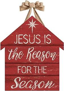 Studio M DD1771 Outdoor-Safe Front Door Décor, 16.5 x 19-Inch, Jesus is The Reason