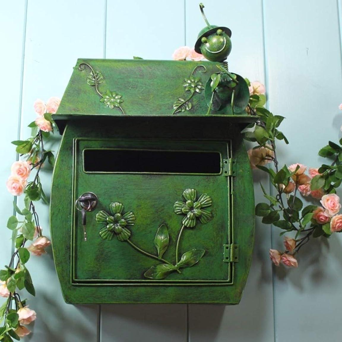 創傷乗って複雑PLL ヨーロッパスタイルのレターボックス牧歌的なスタイルレトロ壁掛けレターボックス防水屋外のメールボックス