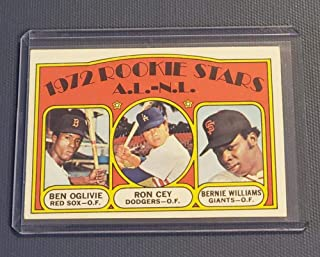Baseball MLB 1972 Topps #761 Ben Oglivie/Ron Cey/Bernie Williams AL/NL Rookies RC