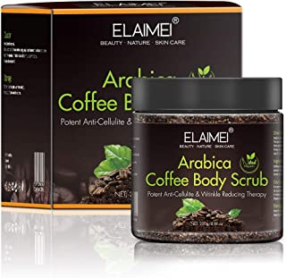 Arabica Coffee Body Scrub for Cellulite and Firming, MeeShirer 100% Natural Exfoliating Scrub Acne Treatment Skin Care, Po...
