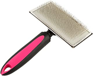 Pet Slicker Brush for Grooming Dogs and Cats | Deshedding Tool and Grooming Brush with Stainless Steel Blade | Efficiently Reduces Shedding and Removes Mats, Tangles, Knots, Dander