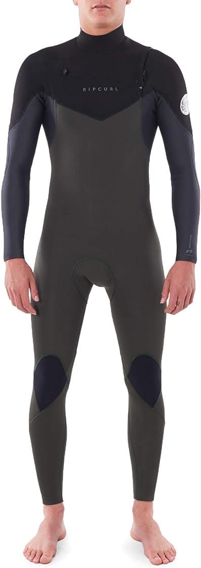 Muta uomo rip curl muta dawn patrol warmth 4/3mm chest zip - verde scuro - fodera flash easy stretch B08DJ1LVZ8