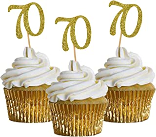 Best 70th birthday cupcake toppers Reviews