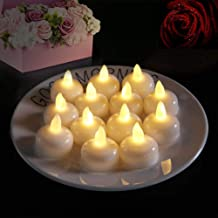 for Indoor Home Lighting Outdoor Decor Party Halloween Fulighture LED Electric Flameless Pumpkin Candle Lights Battery Included Yellow Pack of 12 Realistic and Bright