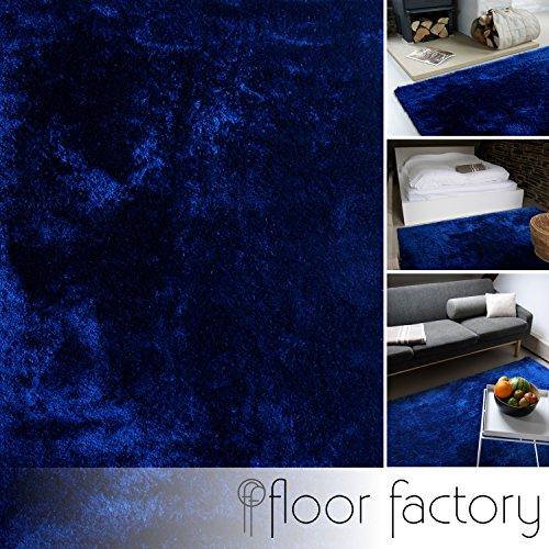 floor factory Alfombra Moderna Delight Azul Marino 80x150cm - Alfombra Noble Suave y Sedosa