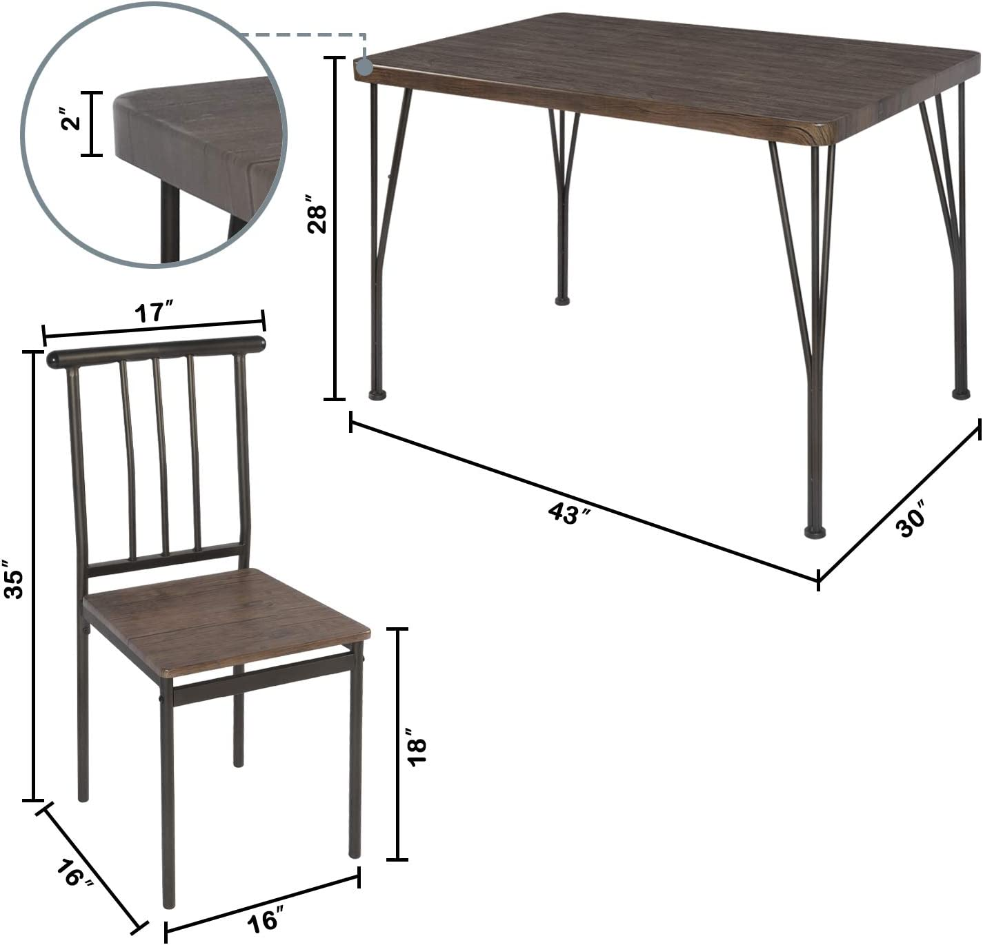 Best for budget: LAZZO 5 Piece Dining Table Set