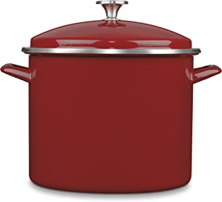 Cuisinart Chef's Classic Enamel on Steel Stockpot with Cover, 12-Quart, Red