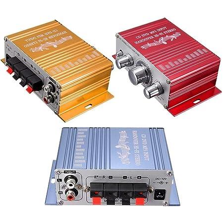 Ndier 1 Packung Mini Verstärker Super Bass Hallo Fi Stereo Audio Verstärker Booster Für Auto Moto Start Mit Dc 12v Stromversorgung Zufälliger Farbe Autozubehör Auto