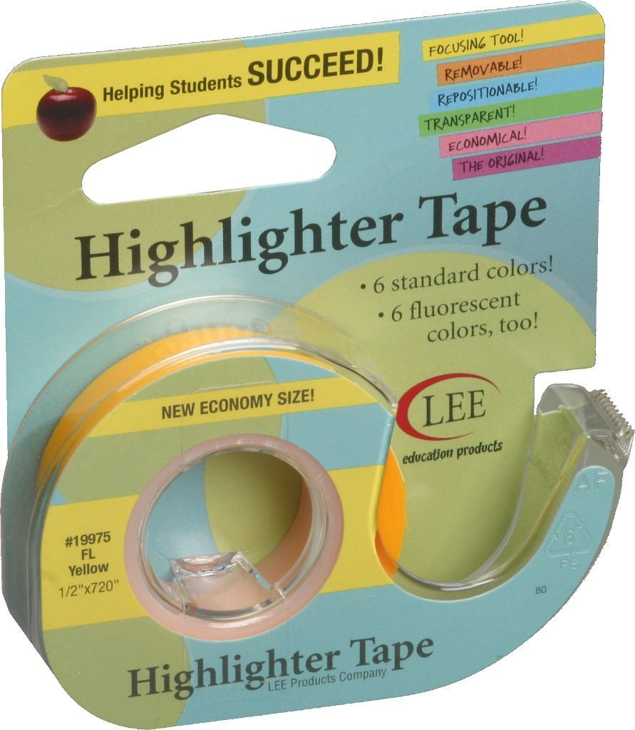Lee Products Super sale period limited Company Fluorescent Tape Highlighter Ranking TOP19 1 2
