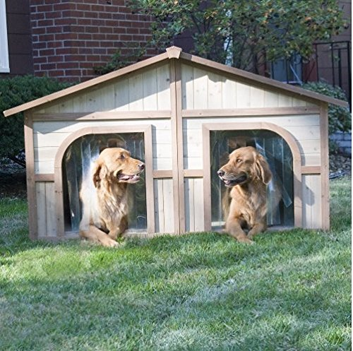 Extra Large Solid Wood Dog Houses - Suits Two Dogs Or 1 Large Breeds. This Spacious Large Dog Kennel...