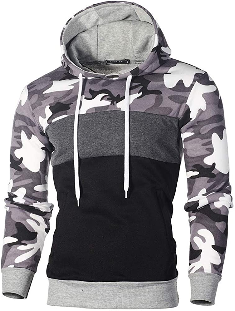 Fastbot Men's Blend Sweatshirt Camouflage Pullover Size Department store Plus Lon Recommended