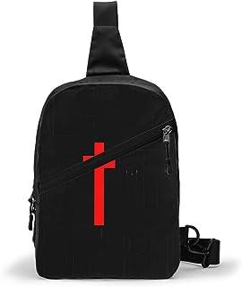 Christian Design Bolso Bandolera De Hombre Bolso Cruzada Hombre Bolsa De Pecho Sling Bag Crossbody Para Al Aire Libre Camp...