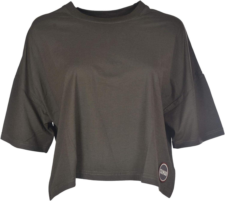 Colmar Originals Women's 86047SI290 Green Cotton TShirt