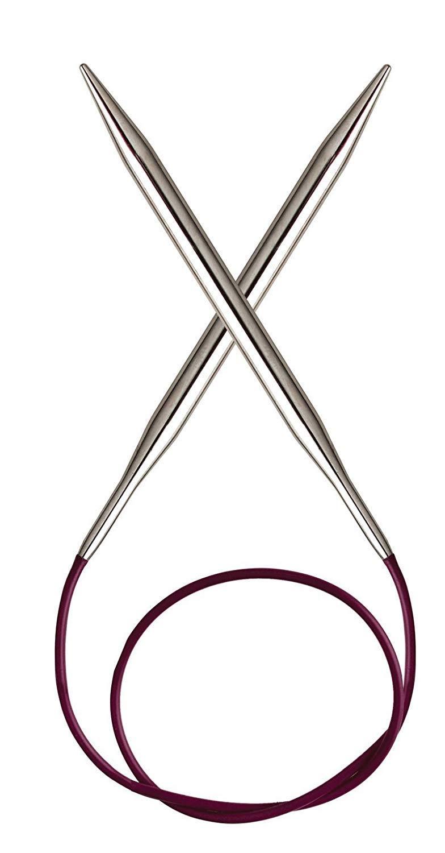 Agujas de Tejer Circulares Madera de Abedul, 120 cm, 6 mm Knit Pro Basix
