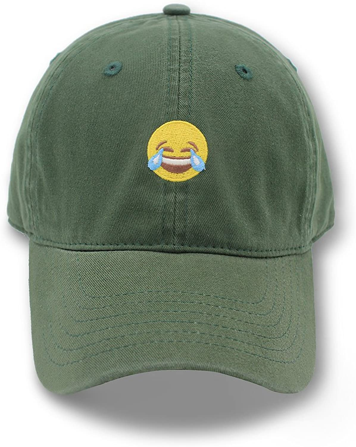 Hatter USA Embroidered Crying Laughing Emoji Unstructured Unisex Dad Hat