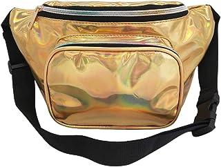 Wultia - Bags for Women 2019 Women Fashion Outdoor Laser Waterproof Leather Messenger Shoulder Bag Chest Bag Bolsa Feminina Gold