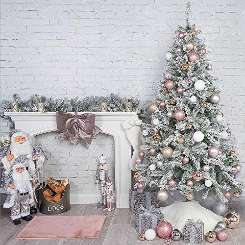 OnlineDiscountStore, bellissimo albero di Natale artificiale nevoso, 2,1 m