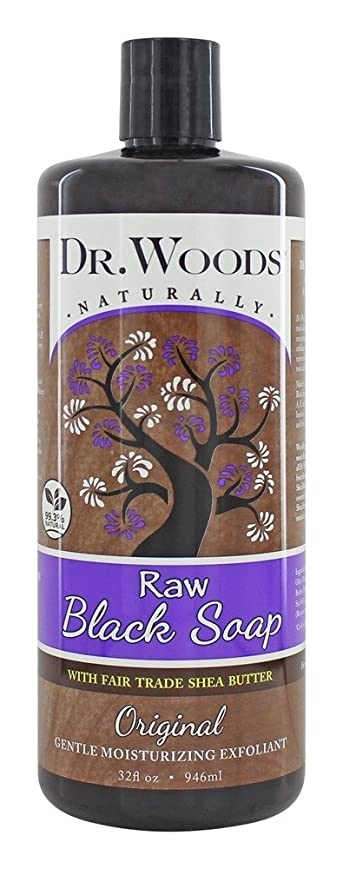 ラオス人モード比べるDr. Woods - 公正貿易のシアバターの原物の液体の未加工黒い石鹸 - 32ポンド [並行輸入品]