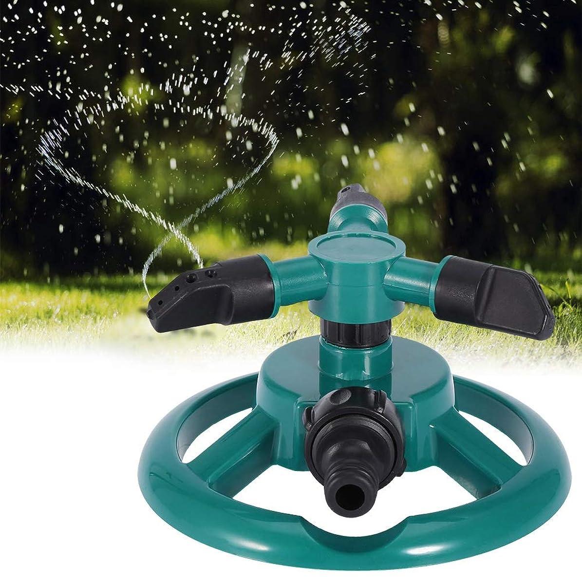 実行する渇き量で水スプリンクラー、360°完全3ノズルサークル回転散水スプリンクラー灌漑システム、ガーデン灌漑スプリンクラー用(EUプラグ)