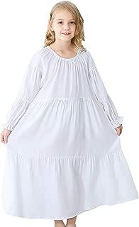 PUFSUNJJ Kids Girls Soft Cotton Nightgown Sleepwear Dress Toddler 3-12 Years