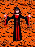 Fancy Steps Fancy Dresses Black Horror Witch Vampire Ghost Halloween Costume for Boys & Girls (4 to 6 yrs)