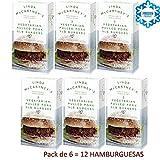 LINDA McCARTNEY Hamburguesas de Cerdo Tiradas Vegetarianas 1 / 4lb (VEGANO) 227GR Congelado Pack de 6