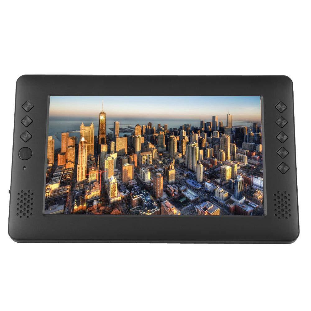 Televisor portátil DVB-T/T2 de 9 Pulgadas, HD 16: 9 TV para automóvil DVB-T/T2 TV TV analógica Digital, Mini Reproductor de Video 1080P con Control Remoto de Antena WiFi, Soporte para batería: Amazon.es: