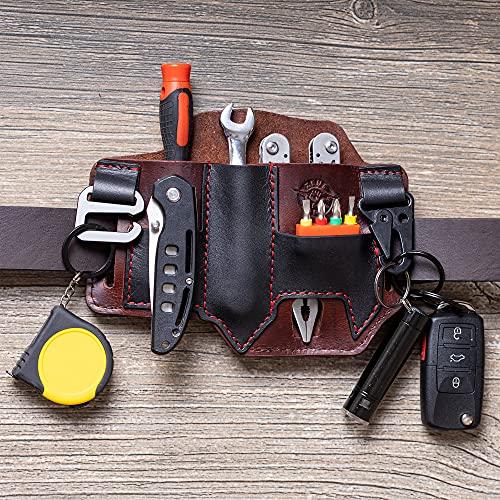 ZEUSRANGE Multitool Leather Sheath for Belt- Leather EDC Pocket...