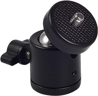 "GiftMax® 1/4"" Black 360 Ball Head Bracket/Holder/Mount for DSLR Camera Tripod Ballhead Stand Support Adapter (1 Piece)"