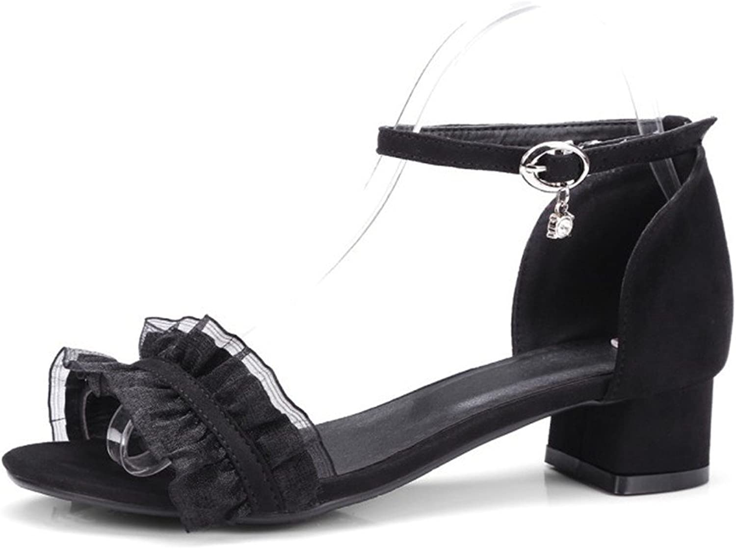 Summer Sandals with a Pair of Sweet, Coarse, hasp, and Round Heads.