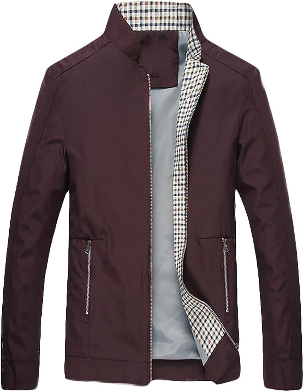 06a0b3169e8d GAGA Men's Autumn Winter Warm Long Sleeves Collar Full Casual Solid ...