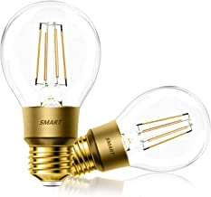 Smart Light Bulbs Compatible with Alexa, and Google Assistant, A19 E26 Light Bulb, Dimmable, No Hub Required, Diverse Style, Pack of 2