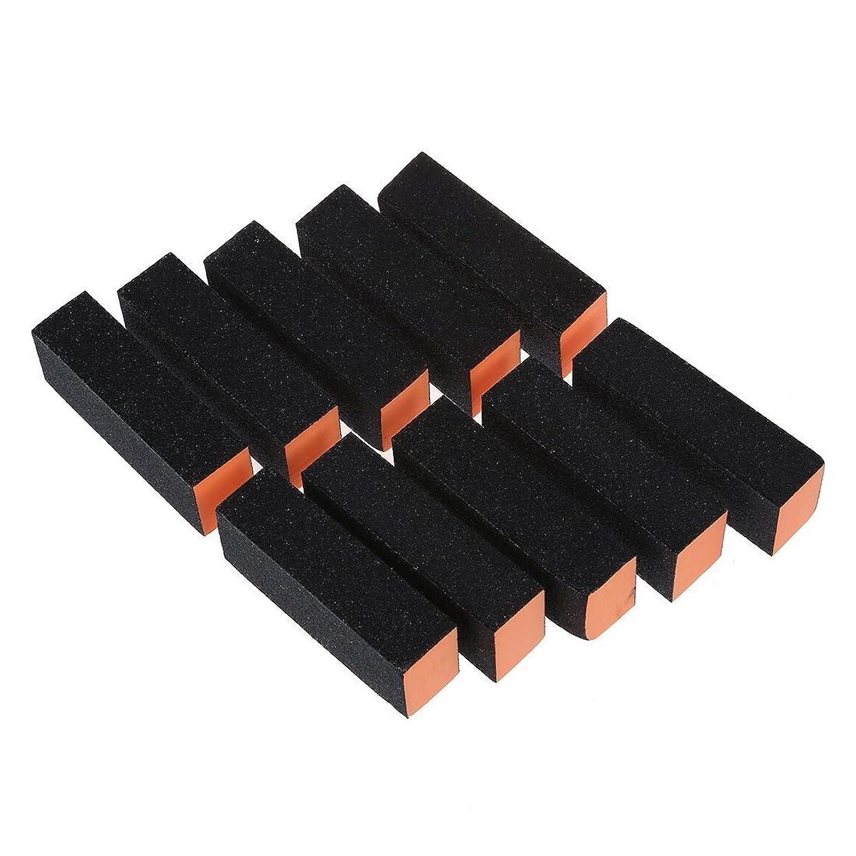 乳快適敏感なネイルアートバッファ,SODIAL(R)10xネイルアートバッファ サンディングファイルブロック ペディキュアケアDIY