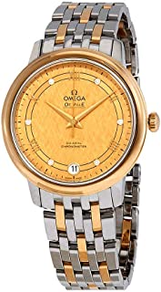 De Ville Yellow Gold Diamond Dial Steel and 18kt Yellow Gold Ladies Watch 424.20.33.20.58.003