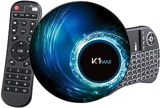 Box TV Android 10.0 [4G + 32G] con mini tastiera wireless, RK3318 a 64 bit Android con processore quad-core, doppio Wi-Fi ...