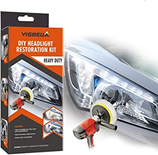 Visbella Professional Headlight Restoration Kit DIY Headlamp Brightener Car Care Repair kit Head Lense Clean (Automatic)