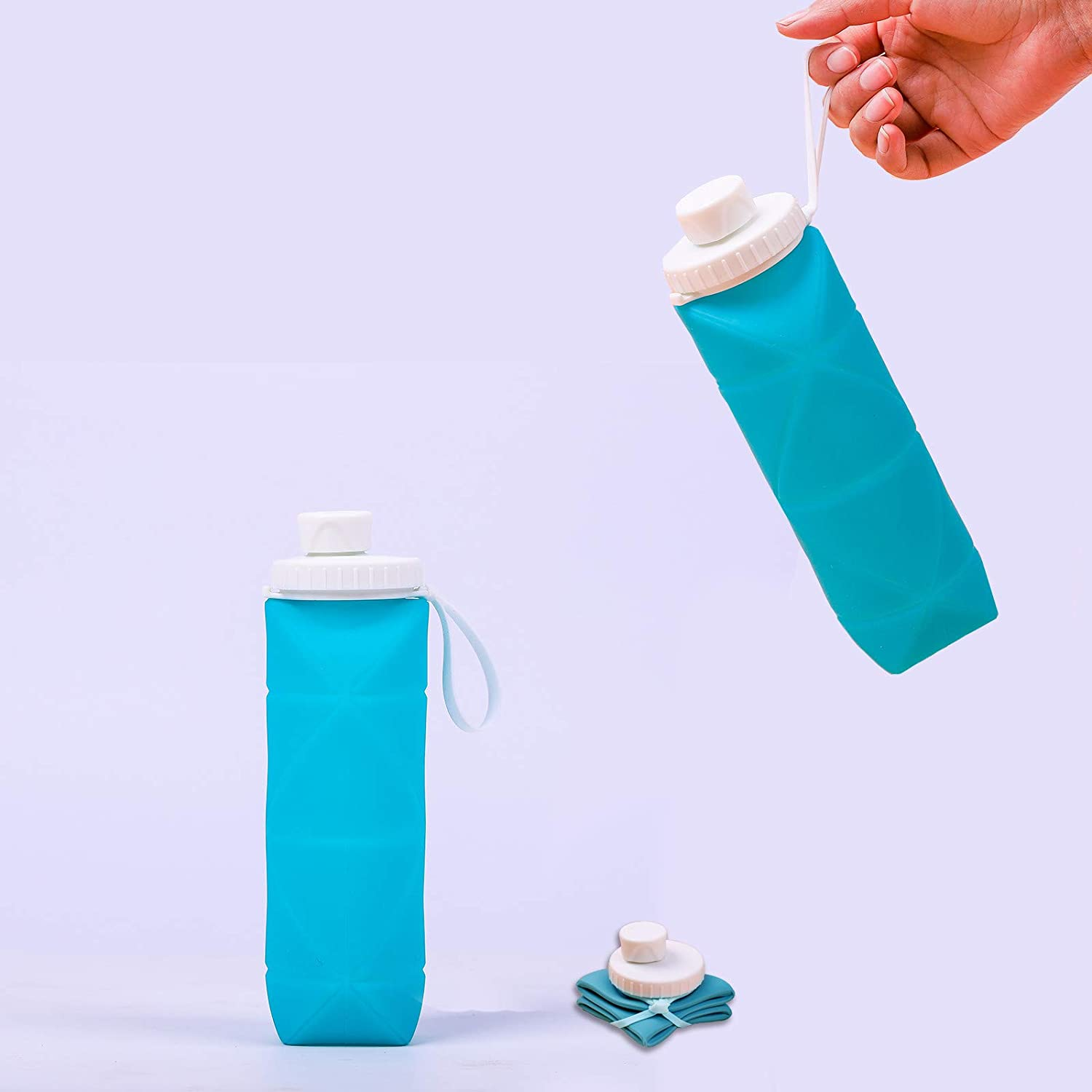 Houston Mall Silicone Collapsible New arrival Water Cup with Foldable lid Si Travel