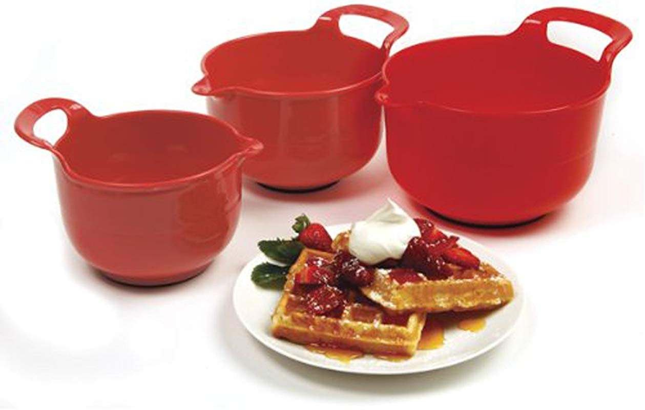 Norpro Mixing Bowls Red Set Of 3