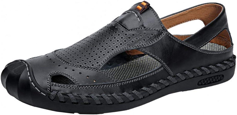 QRETYSG flip flop New Summer Men Sandals Business Casual shoes Outdoor Beach Sandals Roman Men Summer