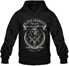 Ivantop Black Sabbath poster 2016 fashion Men's Hoodie Sweatshirt Black
