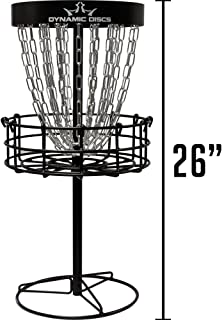 Dynamic Discs Mini Recruit Basket | 2 Sets of Chains | Mini Disc Golf Target | 26.5 Inches Tall, Weighs just Over 11 lbs