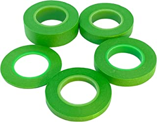 [Cicogna] プラモデル 塗装用 マスキングテープ 緑色 グリーン 5本セット 2mm 6mm 10mm 12mm 18mm ホビー用 プラモ 明るい色の下地でも視認性が高い