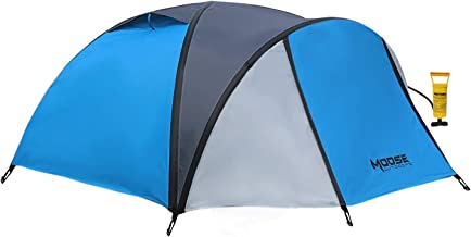 MOOSE OUTDOORS Inflatable Tent, Comes with Air Pump and Fast Set Up in 3 Minutes, Family Camping Tent with Air Flow Vents, Waterproot, Windproof and Sewn-in Groundsheet