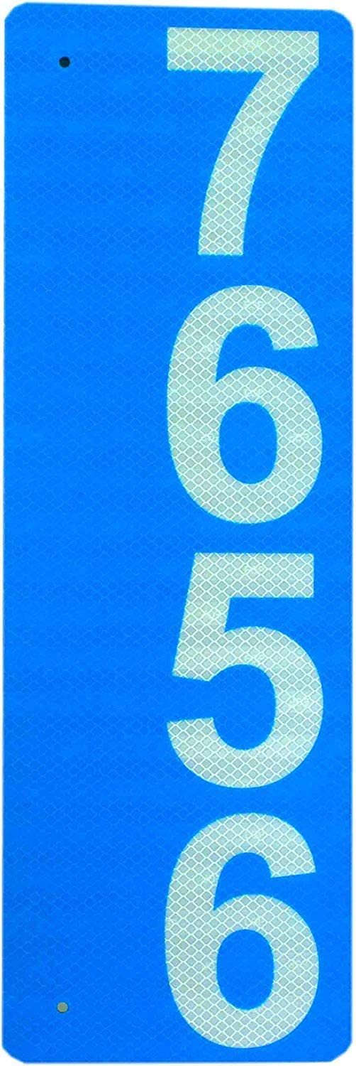 Max New mail order 48% OFF Custom 911 Reflective Address Sign Single-Sided - Very Highly