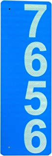 """Custom 911 Reflective Address Sign - Very Highly Visible in The Daytime and Nighttime. Excellent for Emergency Response, Delivery Service, Double-Sided 6""""x18"""" .04"""" Aluminum Engineering Grade(EGP)"""