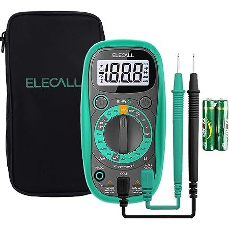 Pocket Digital Multimeter Tester Voltmeter with Case Ohm Volt DC AC Voltmeter Amp Test and Diode Tester Multimeter with LCD Display and Rubber Case, (with Multimeter Bag)
