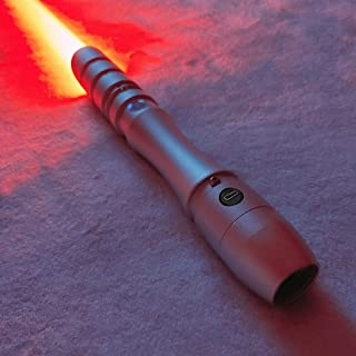 YDD GENIUS Lightsaber Star Wars Jedi Sith Force Fx Heavy Dueling Light Saber with Loud Sound and Realistic Blaster, RGB 16 Colors Changeable, Metal Hilt