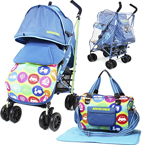 iSafe Buggy Cochecito de paseo–aventurero (completa con saco, bolsa de pañales, parachoques Bar y cubierta para la lluvia)
